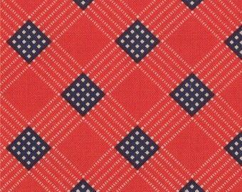 1 Yard of Prairie Paisley II Flag Plaid by Minick & Simpson for Moda