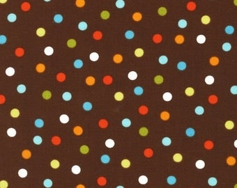LAST ONE Fat Quarter of Remix Chocolate Polka Dots by Ann Kelle for Robert Kaufman