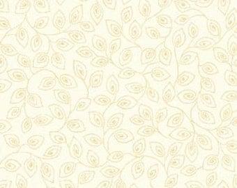 1 Yard  Apple Cider Cream Vine Leaf Blender by P & B Textiles