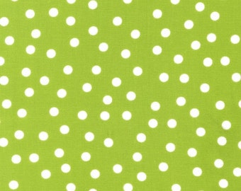 "1 Yard 9.5"" of Remix Lime Polka Dot by Ann Kelle for Robert Kaufman LAST PIECE"