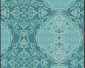 """22.5"""" Lilly Belle Lacis Blueberry designed by Bari J Ackerman for Art Gallery Fabrics LAST PIECE"""