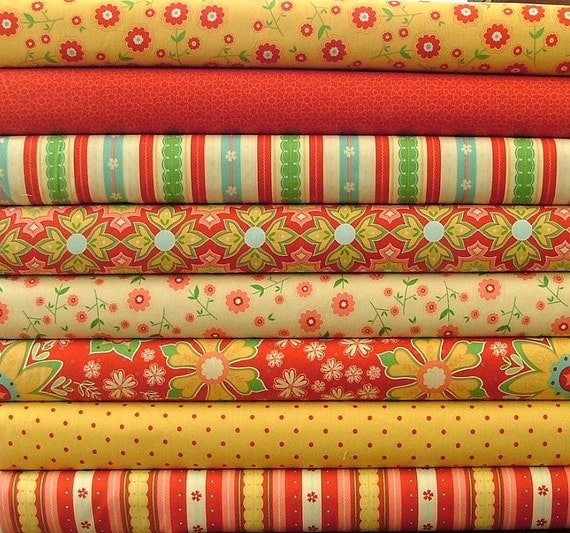 """SALE  2 1/2""""  Jelly Roll Strips from Selected Delighted Fabrics by The Quilted Fish for Riley Blake"""