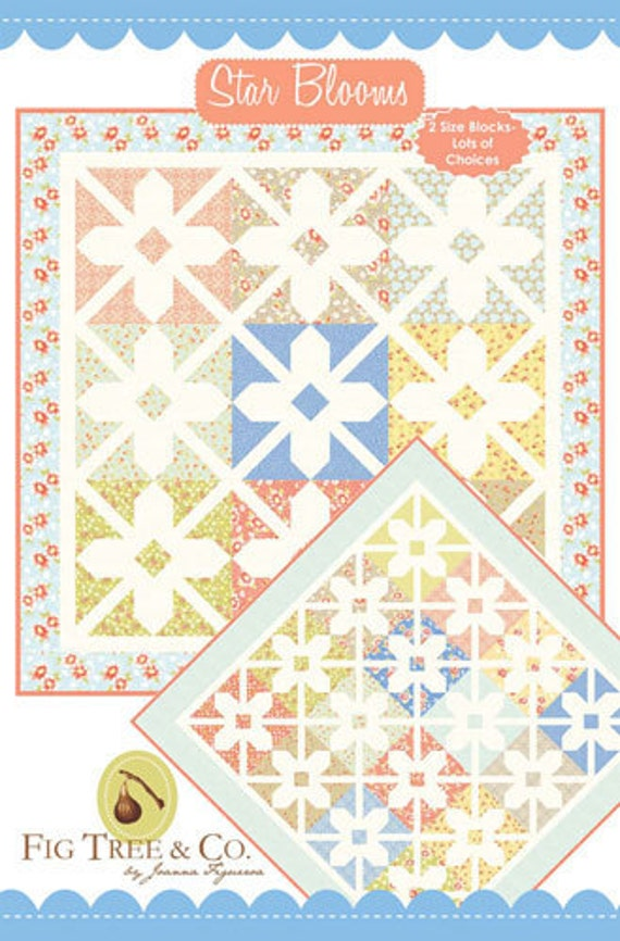 Star Blooms Quilt Pattern by Joanna Figueroa of Fig Tree Quilts - Last One