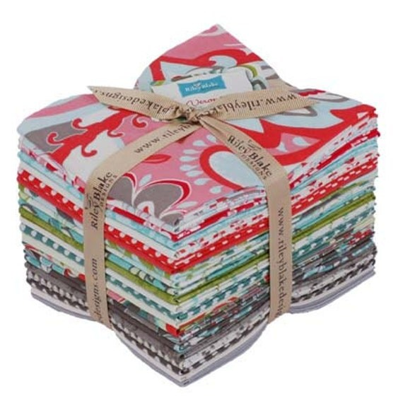 LAST ONE Verona Precut Fat Quarter Bundle by Emily Taylor Design for Riley Blake The Entire Collection