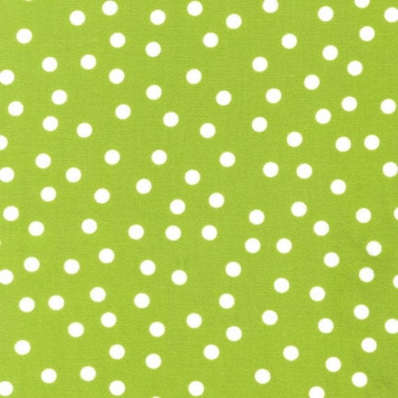Fat Quarter - Remix Lime Polka Dot by Ann Kelle for Robert Kaufman