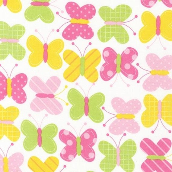 "End Of Bolt 34"" Urban Zoologie by Ann Kelle for Robert Kaufman, Spring Pink Butterflies"