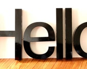 Hello- Wonderful Repurposed Letters - Making  Art with Letters