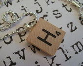 personalized initial scrabble tile necklace - you choose letter