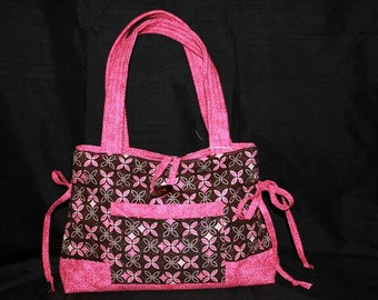 Pink and Brown Sparkle Purse
