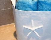 Coastal Living Decor Sea star Fabric Storage Basket