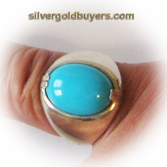 Sterling Silver Blue Turquoise Ring