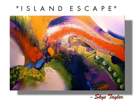 Abstract - Island Escape - 24 x 36 - Skye Taylor