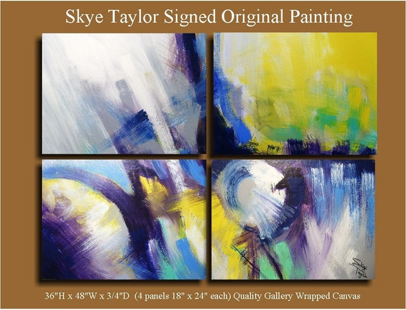 Original Abstract - Unkept Promises - 36 x 48 - by Skye Taylor