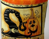 Halloween Tote Basket Bucket Bin   Witch Hat Pumpkin