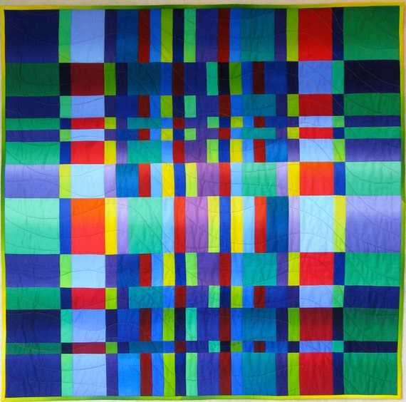 Modern Art Quilt  - Colors in Nature - Wall Hanging