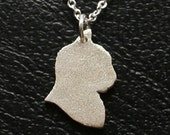 Cat Necklace - Sterling Silver - Silhouette