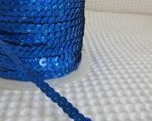 5 Yards Shimmering Royal Blue Sequin Trim - 22