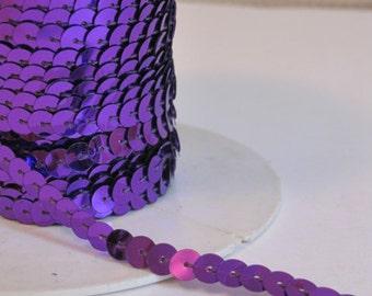 5 Yards Purple Sequin Trim - 23