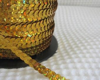 5 Yards Shimmering Gold Sequin Trim - 06
