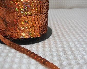 5 Yards Shimmering Copper Sequin Trim - 28