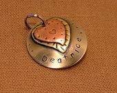 Small Dog ID Tag-Beatrice mixed metal pet i.d tag