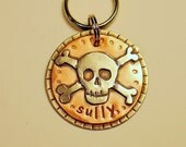 Custom dog tag- personalized mixed metal tag for your pet- the Menacing Pup