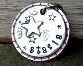 custom dog id tag-Starry  pet id tag