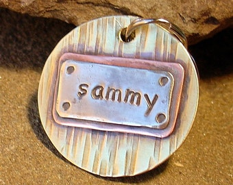 Custom dog id tag- Sammy- great for cat's too