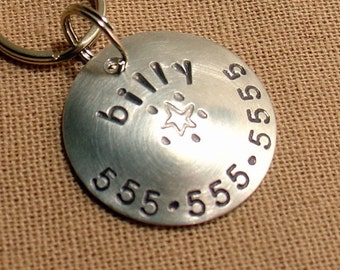 Custom light weight pet tag for dogs and cats- the Billy