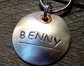 Dog ID Tag- So Simple in Silver
