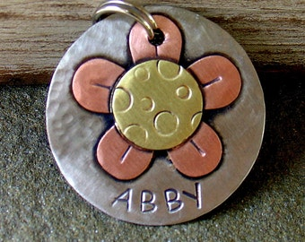 custom dog id tag- Abby and Petals