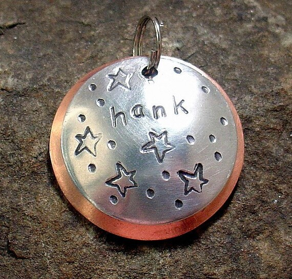 Hank- mixed metal pet id tag