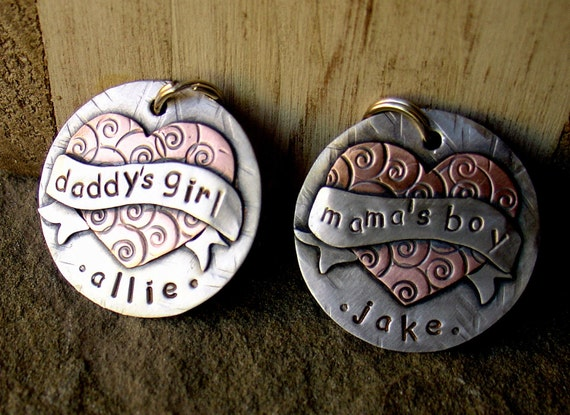 Dog ID Tag- Daddy's girl  tattoo inspired for cool big dogs