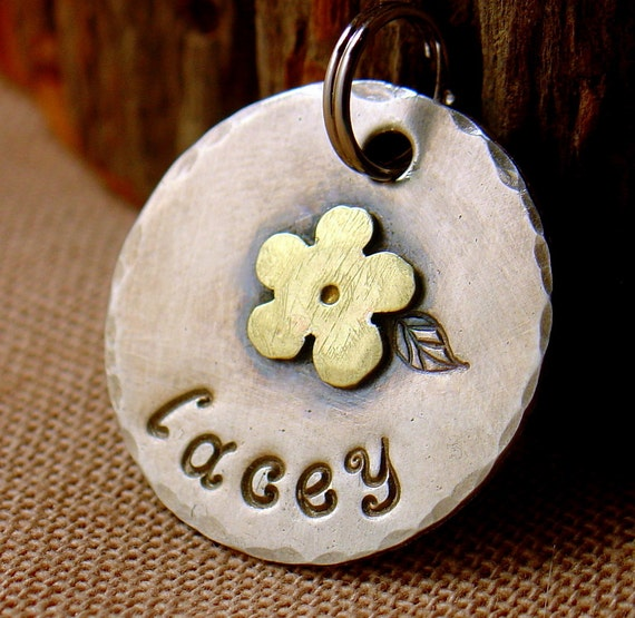 custom id tag for cats and small dog-Lacey - personalized pet tag