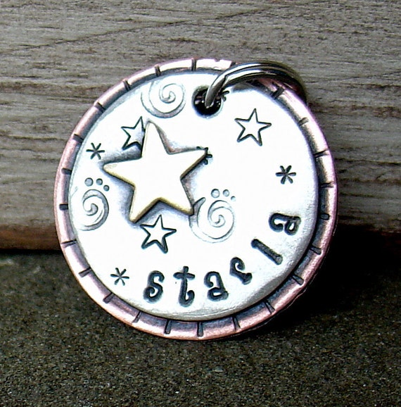 custom dog id tag-Starry  pet id tag