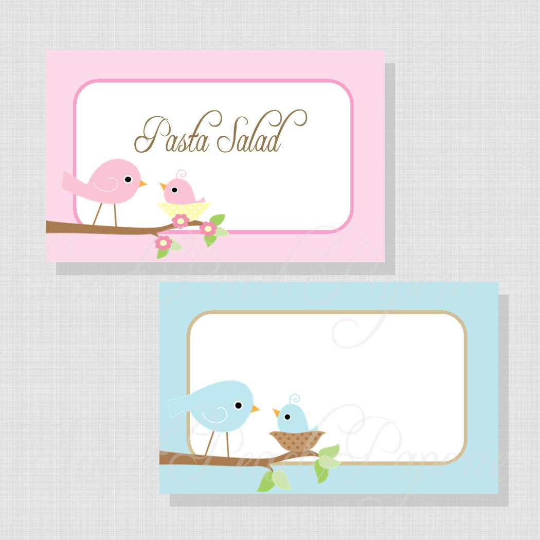 baby shower food labels baby shower