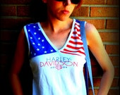 Vintage 90's Harley Davidson /  American flag / patriotic