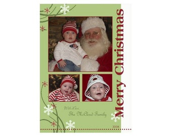 Christmas Holiday Photo Cards -  5x7
