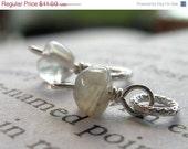 25% Off SALE Love--Two Moonstone Pebble Pendants