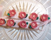 Mini Pink Flower Decorative Hairclips Size Small