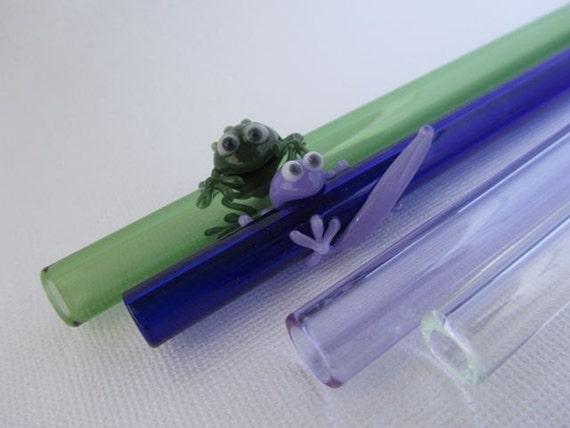 Mixed Set of Four Glass Straws