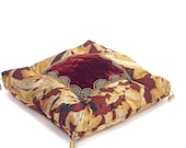 Throw-Pillow in red, golden and silver colors: INES-05