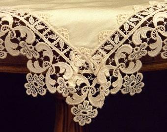 Napkin Handkerchief Silk with lace RM-03