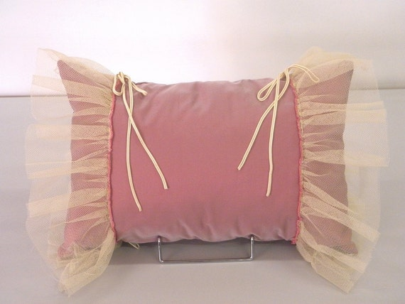 Cute spring decoration Pillow Cushion pink lilac easter gift romantic ruffled tulle