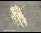 Ivory Ruffle Diaper Cover Ruffle Bloomer Sassy Fancy Pants Panty