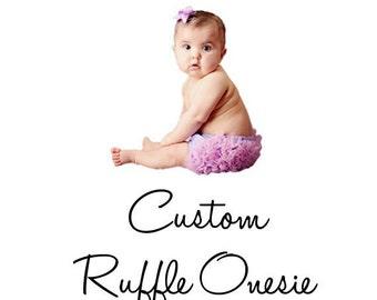 Custom Matching Ruffled Onesie Bodysuit Shirt Top