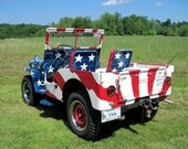Patriotic Photograph All American Jeep,  10 x 8, The Jeep Mystique, America's Patriotic Love Affair