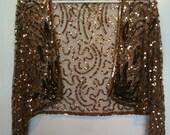Vintage Copper/ Brown Sequin Bolero