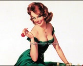 Elvgren Pinup Girl Chess Risque Redhead Repro Greeting Card