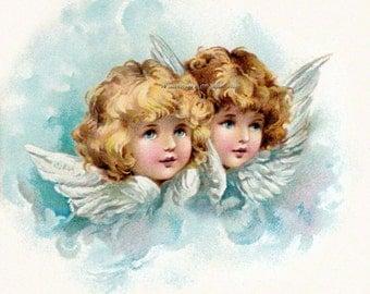 Harriet Bennett Angels Cherubs Repro Greeting Card